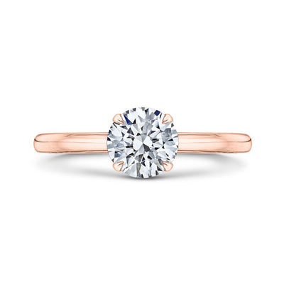 Round Rose Gold Solitaire Engagement Ring