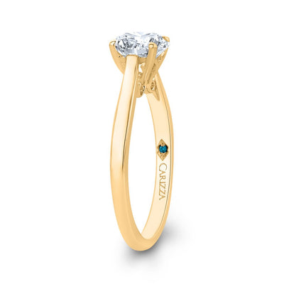 Round Solitaire Yellow Gold engagement Ring