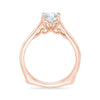 Rose Gold Euro Shank Engagement Ring