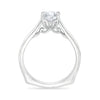 White Gold Euro Shank Engagement Ring