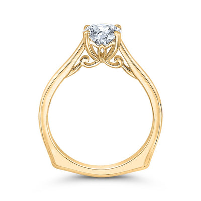 Yellow Gold Euro Shank Engagement Ring