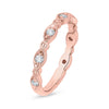 Vintage Diamond Rose Gold Band