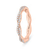 Diamond Rose Gold Twisted Band