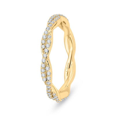Yellow Gold Twisted Eternity Band