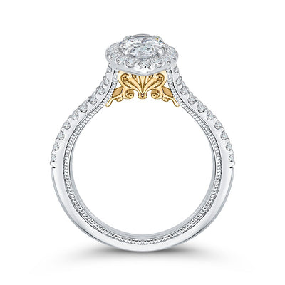 Diamond Marquise Halo Engagement Ring