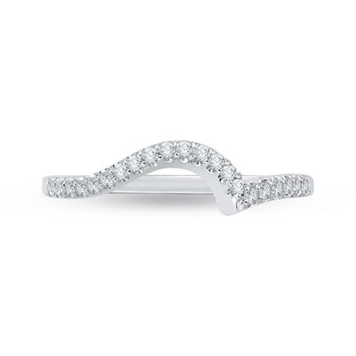 curved diamond wedding bands