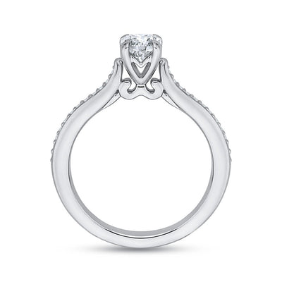 Solitaire Cathedral Engagement Ring