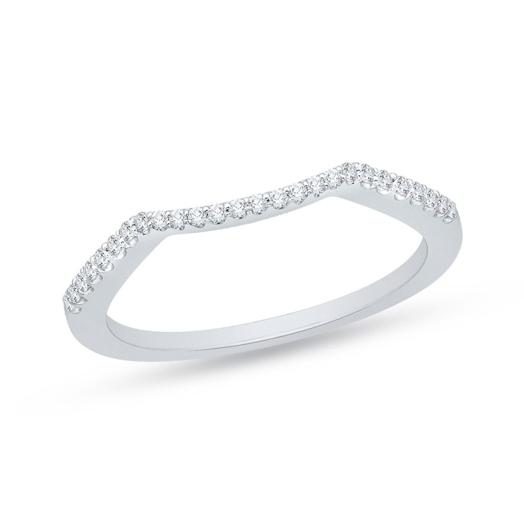 Contoured Diamond Wedding Ring