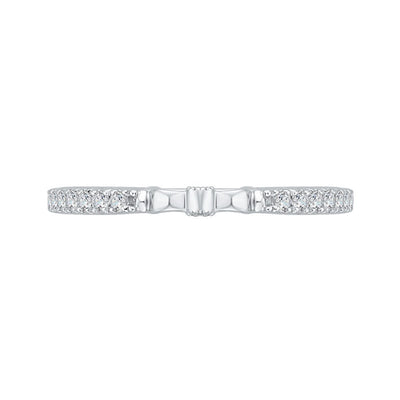Hidden Diamond Wedding Band