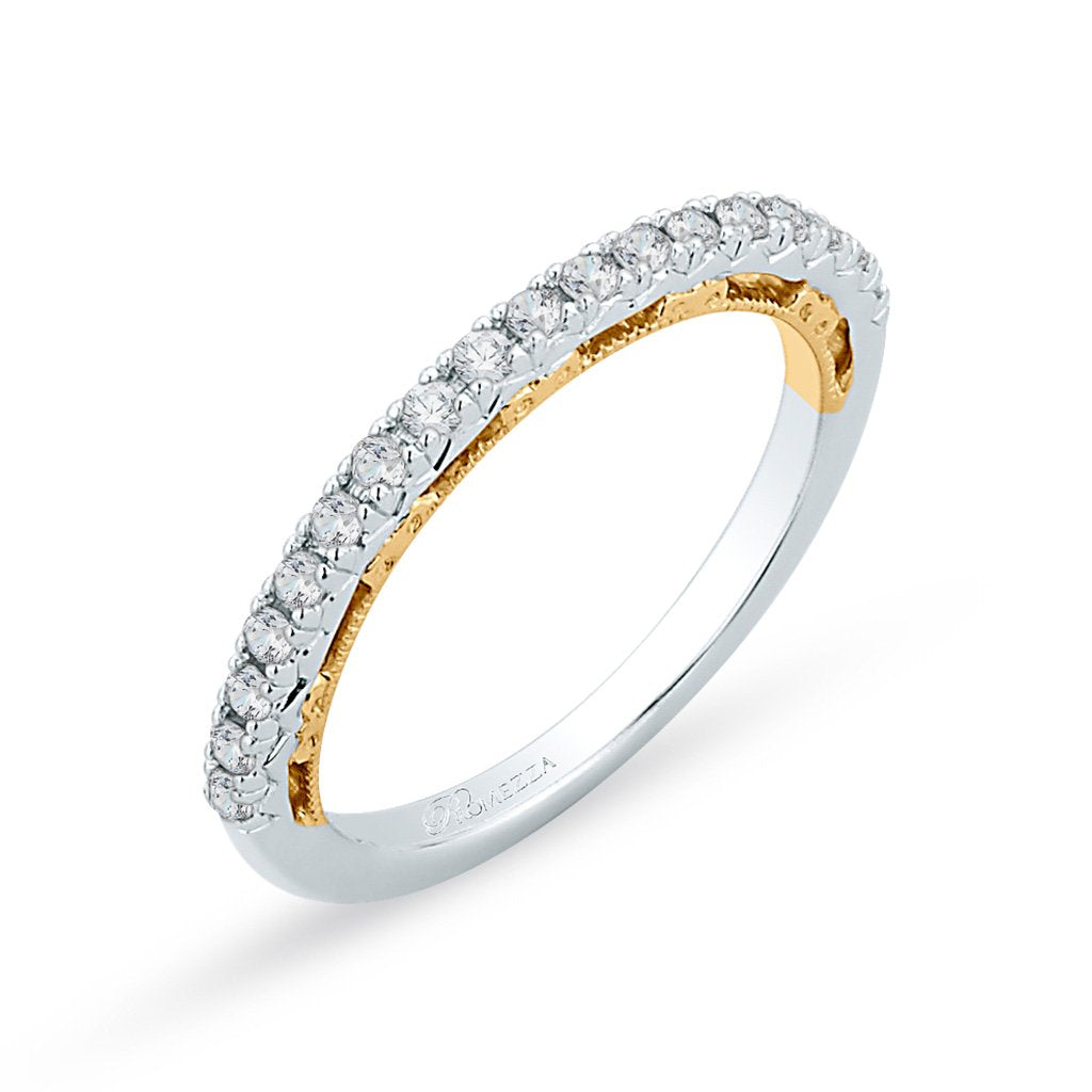 Two-toned Diamond Band