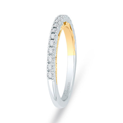 Two-toned Diamond Wedding Band