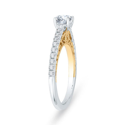 Solitaire Two-toned Engagement Ring