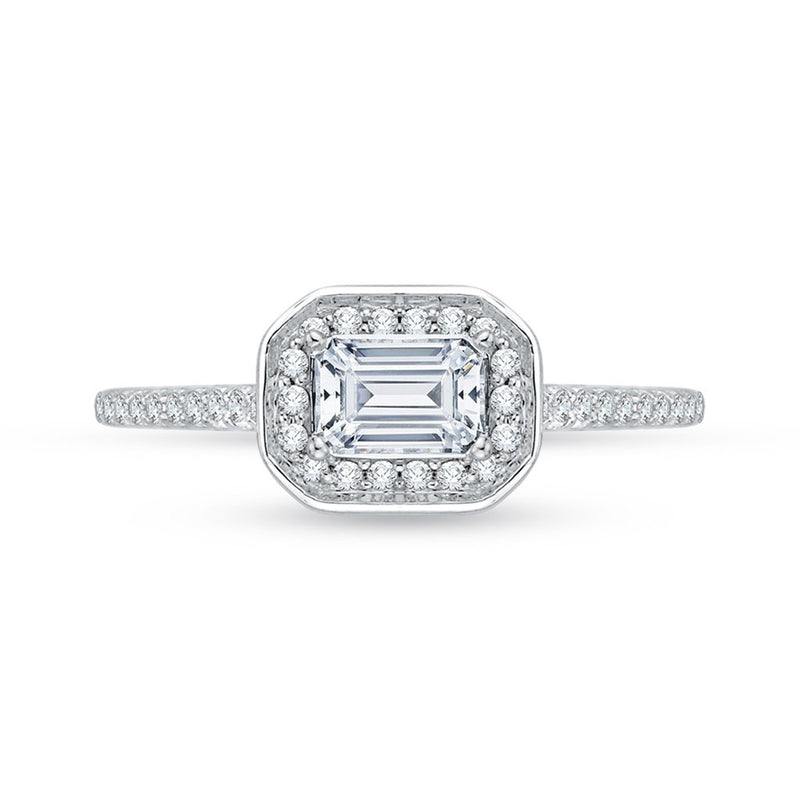 East-West Diamond Engagement Ring