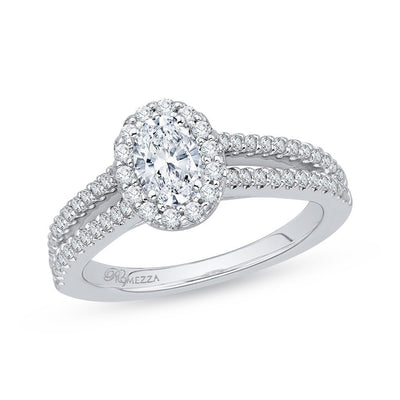 Diamond Oval Engagement Ring