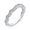 Contoured Diamond Wedding Band