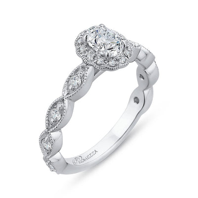 Diamond Oval Halo Engagement Ring