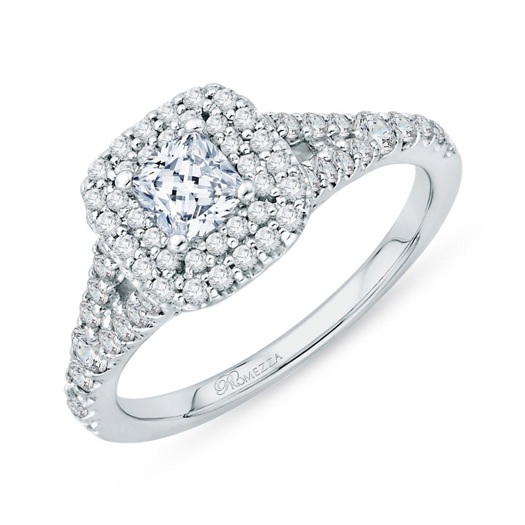 Double Halo Princess Engagement Ring