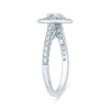 Halo Cushion Diamond Engagement Ring