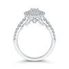 Diamond Cushion Halo Engagement Ring
