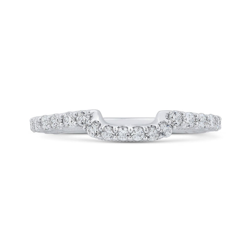 Contoured Diamond Band