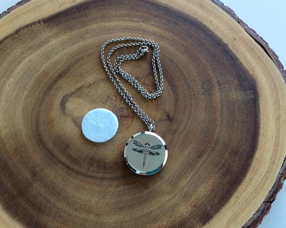 Dragonfly Essential Oil Diffuser Necklace