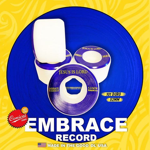 "Embrace team ""RECORD"" Conical - 101A duro 52mm blue/gold"