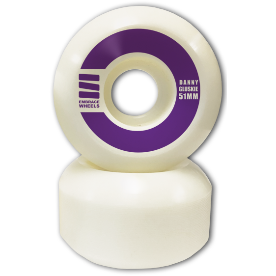 "-Embrace LS Danny Gluskie Pro ""grape"" 51mm - 100A Street Formula - Siren Skate Shop"