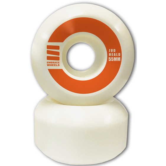 "-Embrace LS Jud Heald Pro ""orange"" 55mm  - 100A Street Formula - Siren Skate Shop"