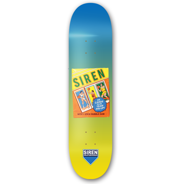 "Siren faded veneer ""WAX PACKS BASKETBALL"" 8.125 - Siren Skate Shop"