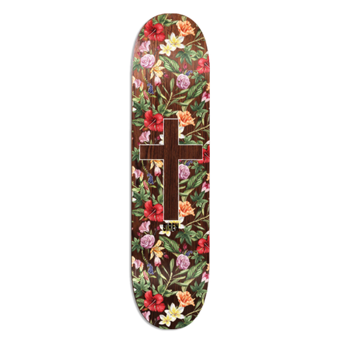 "Siren ""ALOHA CROSS"" Brown Veneer 8.25 team deck"