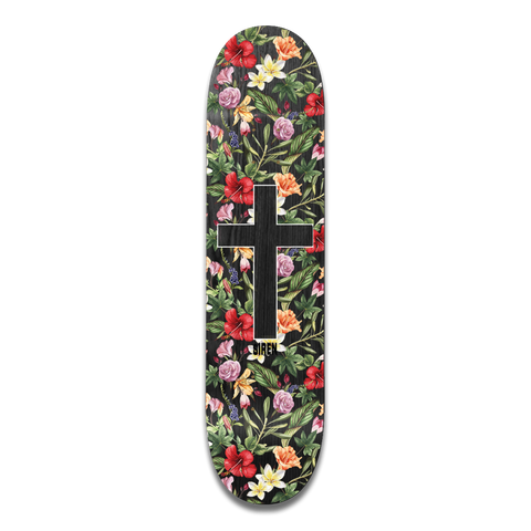 "Siren ""ALOHA CROSS"" Black Veneer 8.125 team deck"