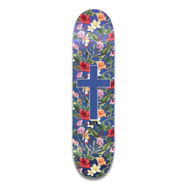 "Siren ""ALOHA CROSS"" Blue Veneer 8.0 team deck"