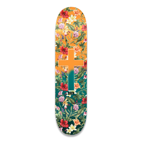 "Siren ""ALOHA CROSS"" Blue Fade 8.5 team deck"