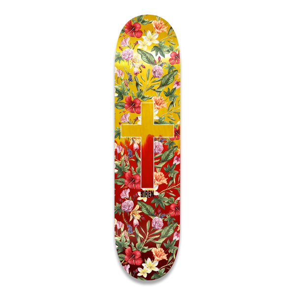 "Siren ""ALOHA CROSS"" Red Fade 8.375 team deck"