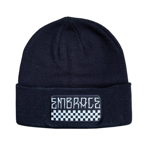 "Embrace ""CHECK PATCH"" black beanie"