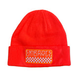"Embrace ""CHECK PATCH"" orange beanie"