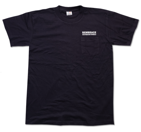 "Embrace ""CLASSIC LOGO"" navy short sleeve pocket tee"