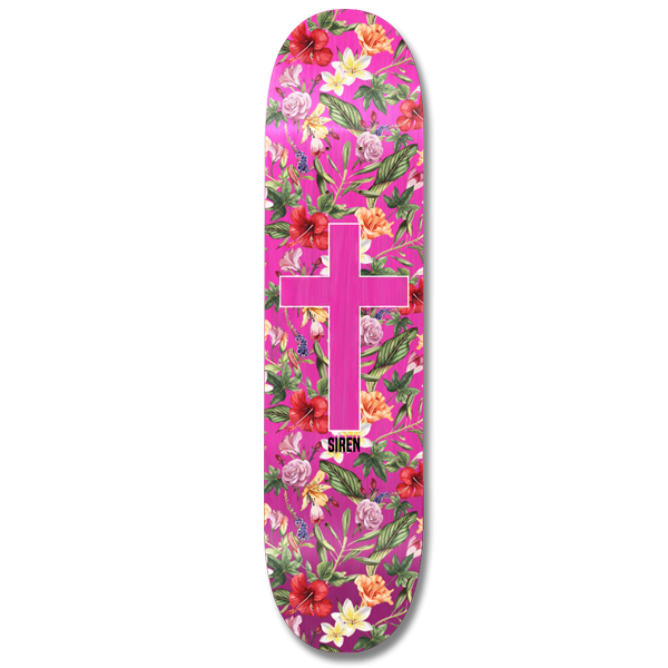 "Siren ""ALOHA CROSS"" team deck - Siren Skate Shop"