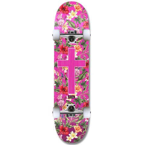 "-Siren complete ""Aloha Cross"" team skateboard - Siren Skate Shop"