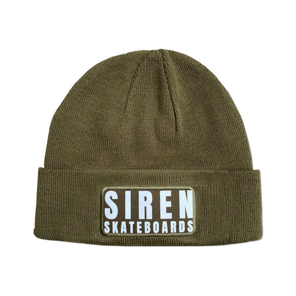 "Siren ""LOGO PATCH"" army green beanie"