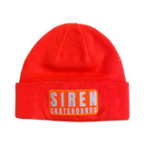 "Siren ""LOGO PATCH"" orange beanie"