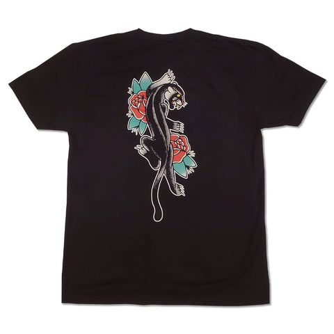 "Siren ""PANTHER"" short sleeve black tee"