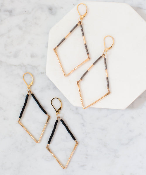 Beaded V Earrings :small: