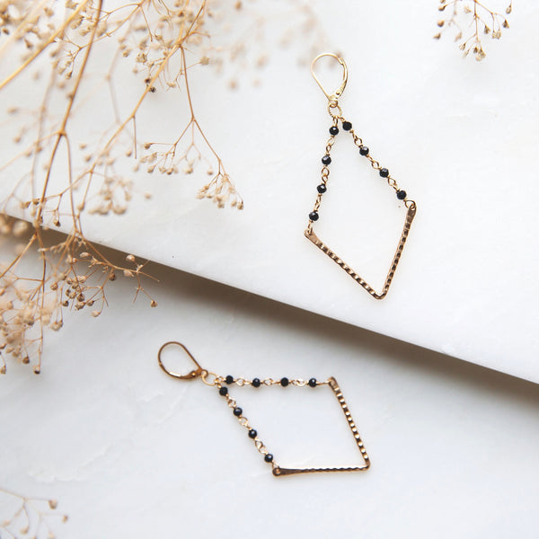 V Lux earrings