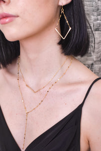 Double V Lariat Necklace