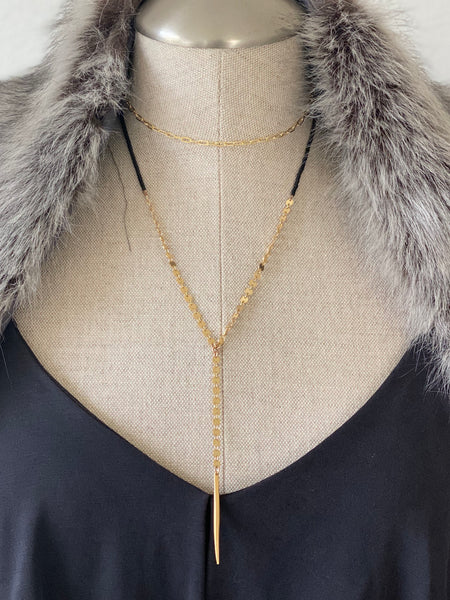 Double spike necklace