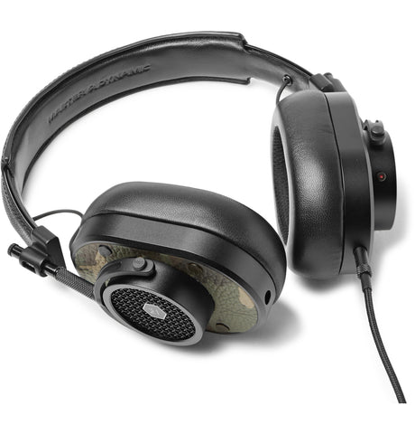 MH40 Camouflage-Print Leather Over-Ear Headphones