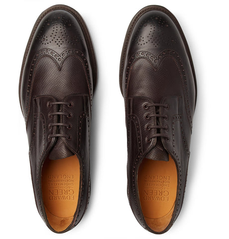 Borrowdale Textured-Leather Wing-Tip Brogues