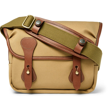'+ Billingham Combination M Leather-Trimmed Cotton-Twill Camera Bag