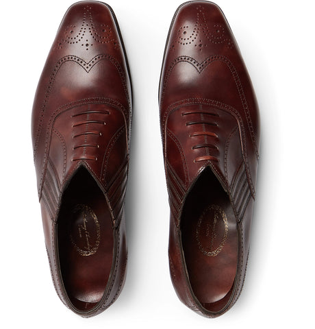 Anthony Churchill Leather Oxford Brogues